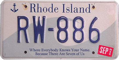Rhode Island License Plate >> Jordan Burchette // Articles // Honest Mottos for Every State